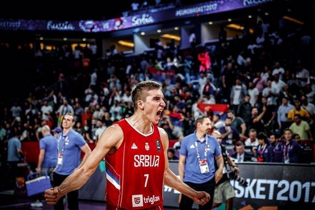 Bogdanovic con la selección de Serbia