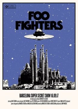 Foo Fighters dan un concierto secreto este sábado en Barcelona