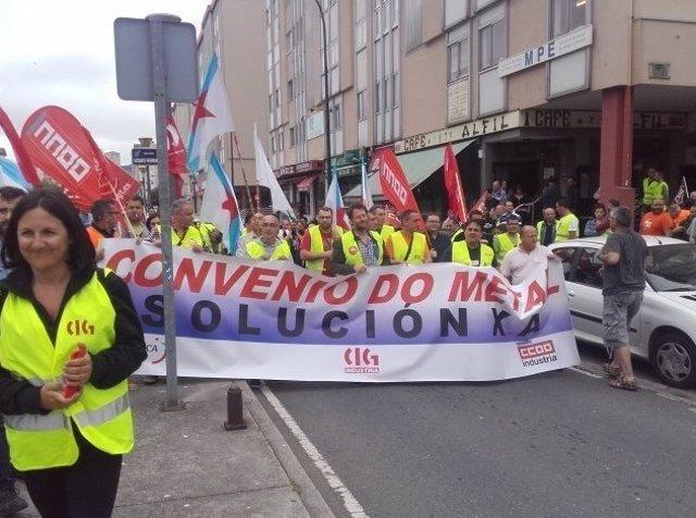 Protesta del metal de A Coruña