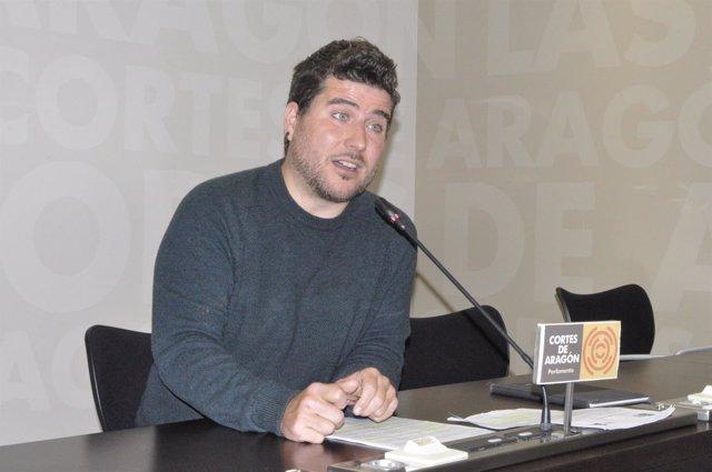 El diputado de Podemos en las Cortes de Aragón, Nacho Escartín