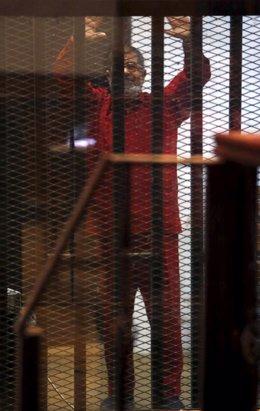 Imagen de Mursi encarcelado en Egipto