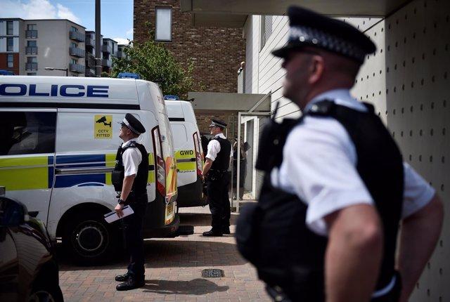 Operación de la Policía en Londres