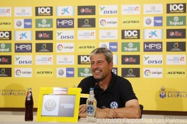 El entrenador de la UD Las Palmas, Manolo Márquez