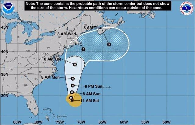Proyección de la trayectoria del huracán 'José'