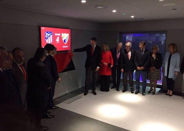 Felipe VI inaugura oficialmente el Wanda Metropolitano