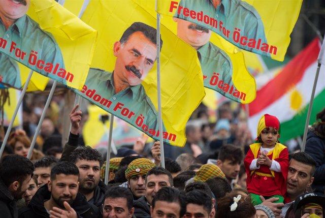 Manifestación kurda en Alemania
