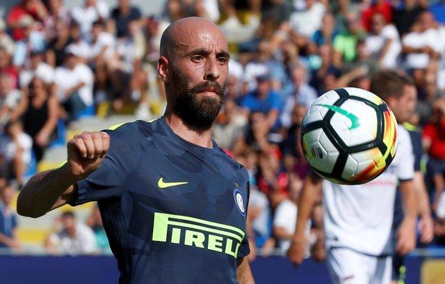 Borja Valero con el Inter de Milán