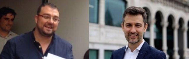 Adrián Barbón y José María Pérez precandidatos a la FSA-PSOE