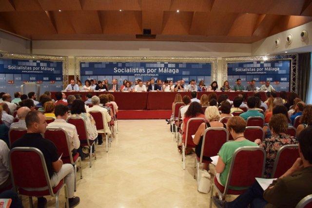 Comité del PSOE de Málaga que ha convocado el congreso provincial