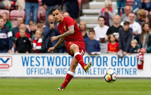 Coutinho, jugador del Liverpool