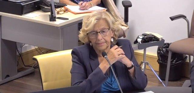 Manuela Carmena en comisión de cultura