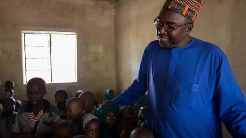 El maestro nigeriano Zannha Mustapha, Premio Nansen para los Refugiados de ACNUR