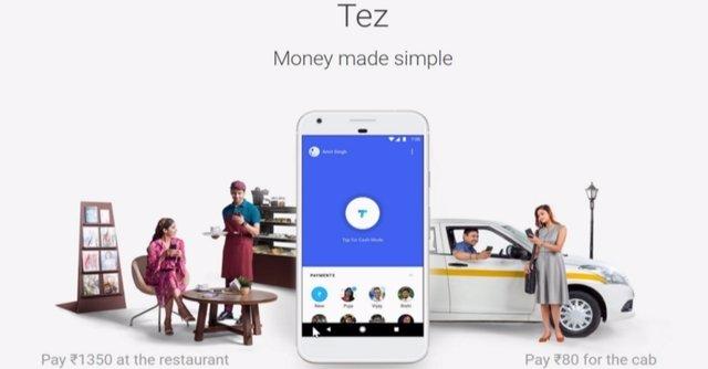 Tez, la nueva aplicación de pagos móviles de Google para India