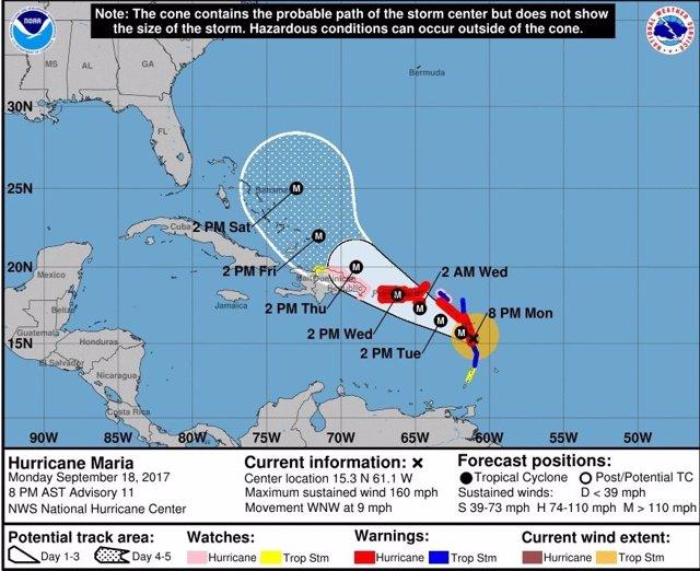 L'huracà 'María' arriba a la categoria 5
