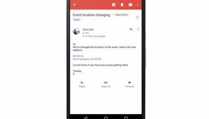 Gmail se actualiza para convertir números de teléfono y direcciones en enlaces