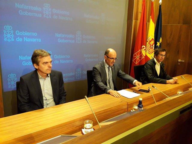 Manu Ayerdi, en rueda de prensa.
