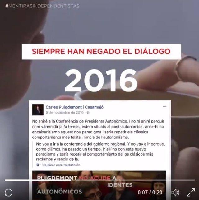 """PP lanza una campaña en Twitter para """"desmontar"""" las """"mentiras"""" independentistas"""