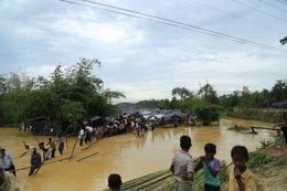 Campamento de refugiados rohinigya en Bangladesh