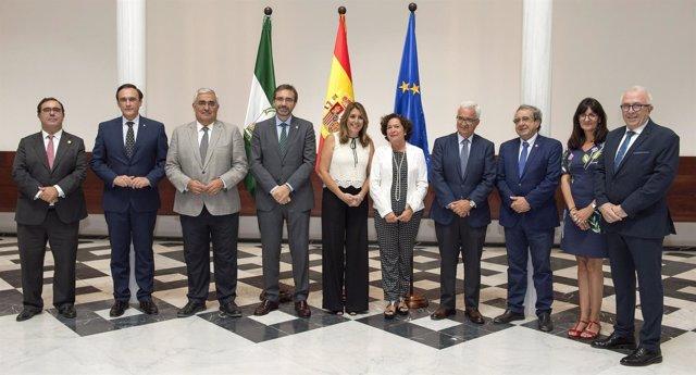 Susana Díaz se reúne con los rectores de la universidades públicas andaluzas