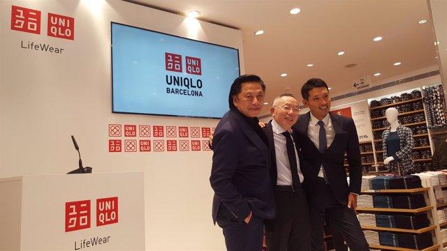 John C.Jay, Tadashi Yanay y Koh Kobayashi (Uniqlo)