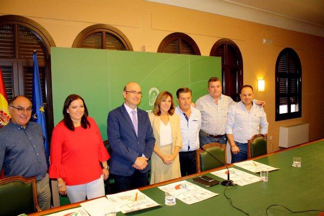 Autoridades durante la presentación del IV Zoco de las Tres Culturas