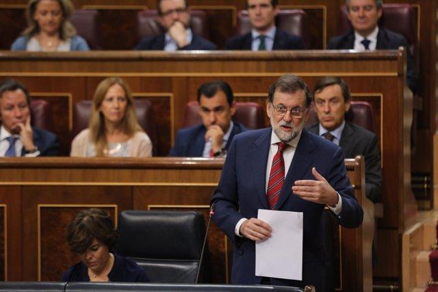 Rajoy en la sesión de control al Gobierno en el Congreso