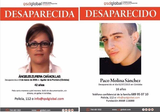Los desaparecidos Ángeles Zurera y Paco Molina