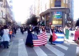 Inicio del desfile