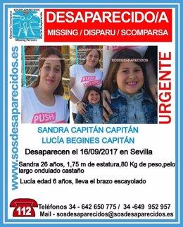 Sandra Capitán y Lucía Begines, desaparecidas en Sevilla