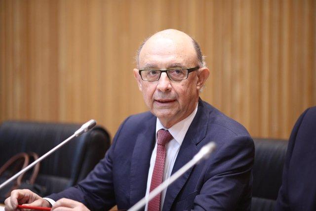 Cristóbal Montoro comparece en el Congreso