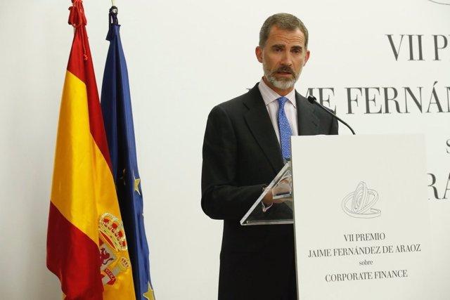 """El Rey Felipe preside VII edición del Premio """"Jaime Fernández de Araoz de Finanz"""