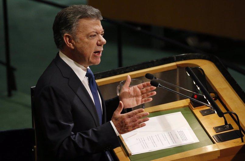 Santos agradece el papel de la ONU en el proceso de paz con las FARC y el ELN