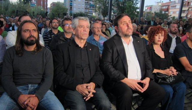 Oriol Junqueras y Eduardo Reyes