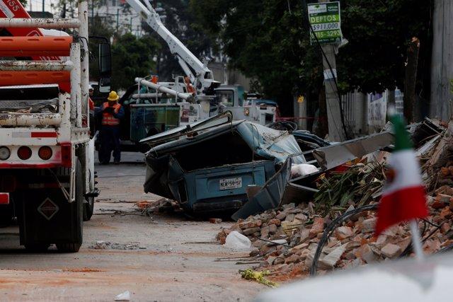 Daños por el terremoto en Ciudad de México