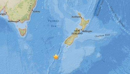 Registrado un terremoto submarino de magnitud 6,1 al sur de Nueva Zelanda