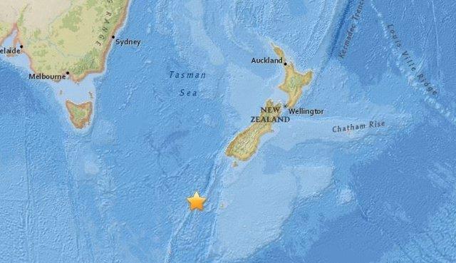 Terremoto de magnitud 6,1 al sur de Nueva Zelanda