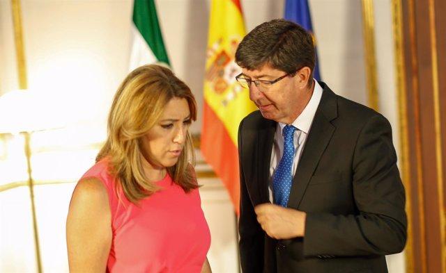 Susana Díaz y Juan Marín, reunidos hoy en San Telmo