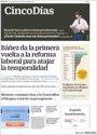 Foto: Las portadas de los periódicos económicos de hoy, miércoles 20 de septiembre