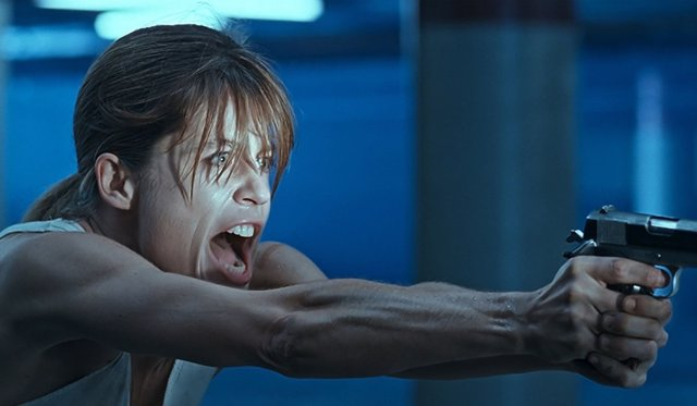 Linda Hamilton en 'Terminator 2'