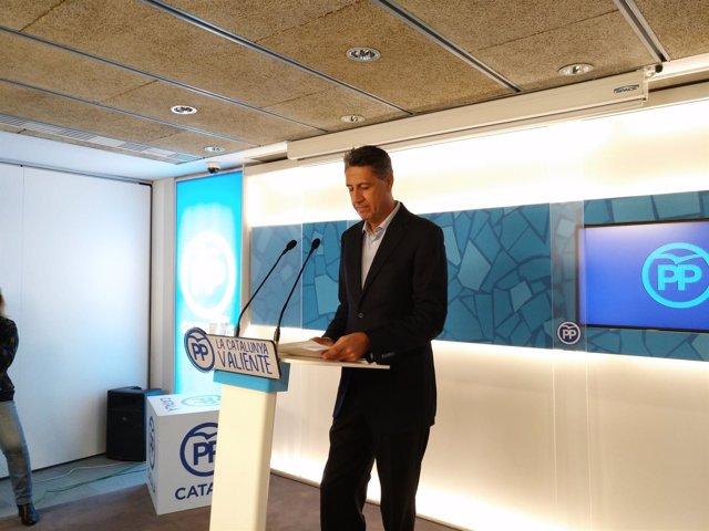 El presidente del PP catalán, Xavier Garcia Albiol