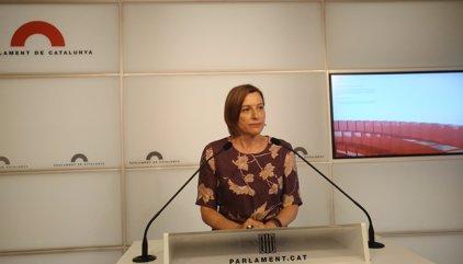 """Forcadell ve """"muy grave"""" la situación tras reunirse con Puigdemont"""
