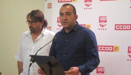 El Govern convoca de urgencia a Ros (UGT) y Pacheco (CC.OO.) tras los registros