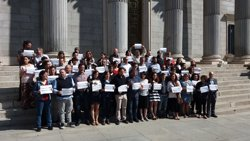 Units Podem se sumeixi a la concentració a Madrid per l'autodeterminació i contra les detencions a Catalunya (EUROPA PRESS)