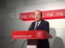 Miquel Iceta (PSC) exigeix al Govern renunciar al referèndum i demana un procés de diàleg (EUROPA PRESS)