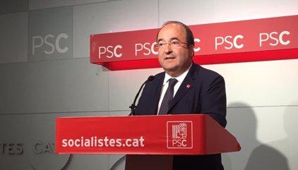 Miquel Iceta (PSC) exigeix al Govern renunciar al referèndum i demana un procés de diàleg