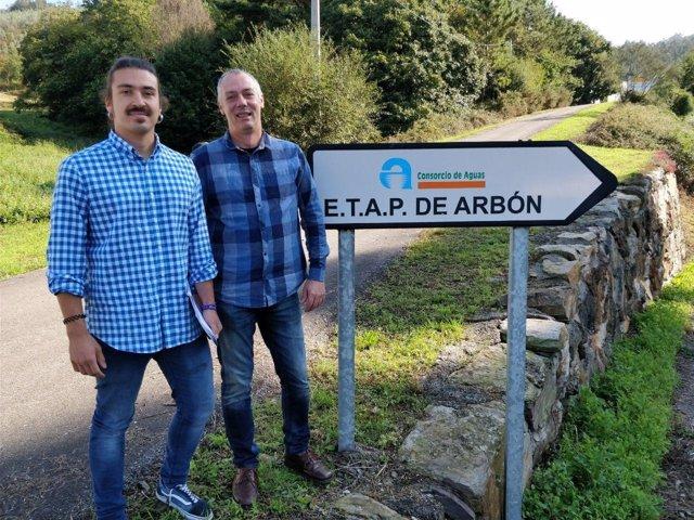 Andrés Fernández Vilanova, a la izquierda