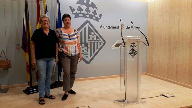 Mercè Borràs y Susanna Moll en rueda de prensa