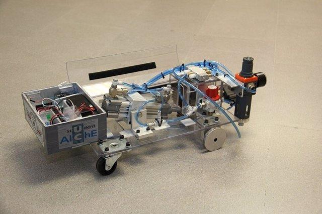 Prototipo del vehículo impulsado por reacción química