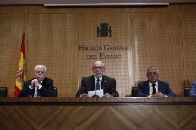 El fiscal general del Estado, José Manuel Maza, en rueda de prensa