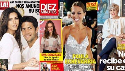 La boda de Ana Boyer y Verdasco, el embarazo de Eva González y la celebración del 40 cumpleaños de Paula Echevarría